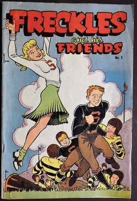Freckles And His Friends Comic Book No. 5 Cheerleader Cover '47 Swim Suit Splash
