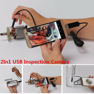 8mm Lens 6LED Waterproof Car Off-Road USB Android Endoscope Borescope HD Camera