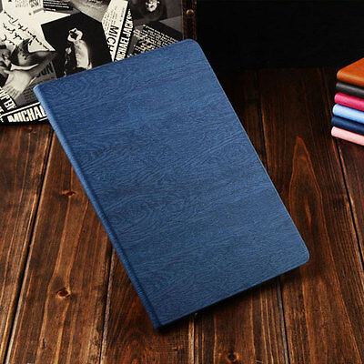 Wooden Leather Stand Flip Case For iPad Mini 1 2 3 4 5 Air Pro Apple Smart Cover