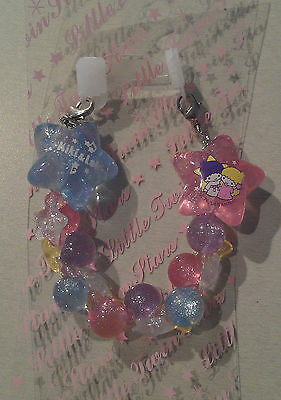 Sanrio LITTLE TWIN STARS 2004 MINT Charm Zipper pull accessory clasp on each end