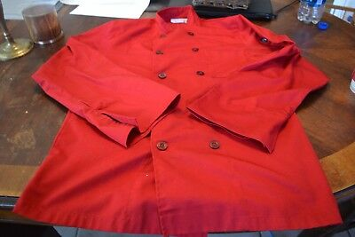 Red long-sleeved chef's jacket unisex small by Chef Works