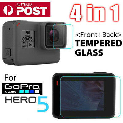 4in1 LCD Screen Lens Tempered Glass Film Screen Protector For GoPro Hero5 Camera