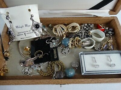 BULK lot of Womens Earrings inc Sarah Coventry Sterling Silver gems set Ruby Amy