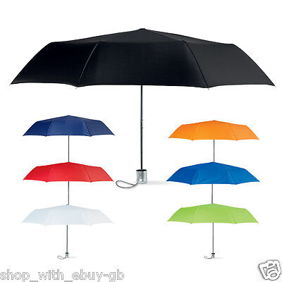 "Mini Mens Ladies Small Compact Pocket Umbrella Parasol 38"" Windproof Travel New"