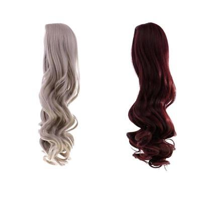 2 Pieces Doll Wavy Curly Hair Wig for 18'' American Girl Dolls DIY Making