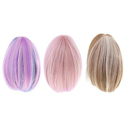 3 Pieces Dolls Straight Hair Wig for 18'' American Girl Doll DIY Making ACCS