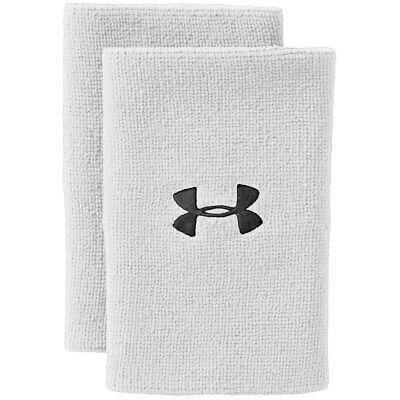 "Under Armour 6"" Performance Wristband 2 Pack - White/Black - One Size"