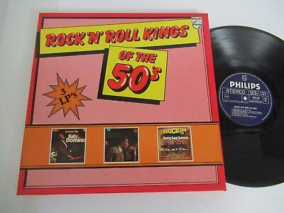 VARIOUS ARTISTS/ROCK ´N´ ROLL KINGS OF THE 50´S  3xLP PHILIPS 6685 103 BOX SET