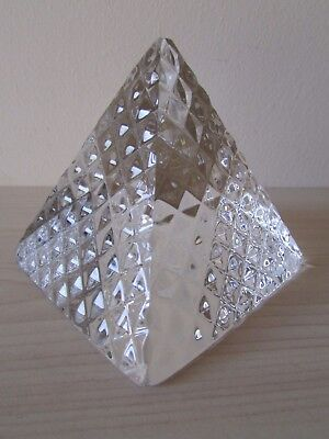 TYRONE CRYSTAL PYRAMID DUNGANNON & SOUTH TYRONE BOROUGH COUNCIL, 8cm HEIGHT.