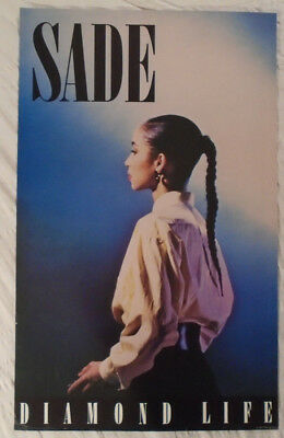 Sade 1985 Promo Poster Diamond Life CBS Records