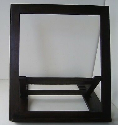 Picture Display Stand Adjustable Solid Oak