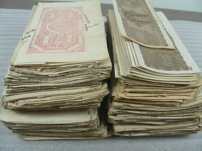 INDIA, Excellent Accumulation of OLD Documents w/stamps
