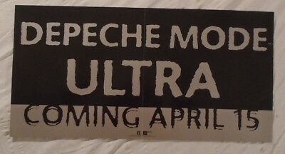 Depeche Mode 1997 Advance Promo Poster Ultra Silver Ink Reprise Records