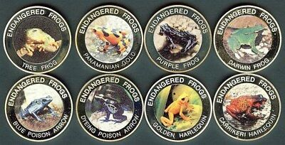 Endangered Frogs 2010 10 Kwacha Nice 8 Proof Coin Collection