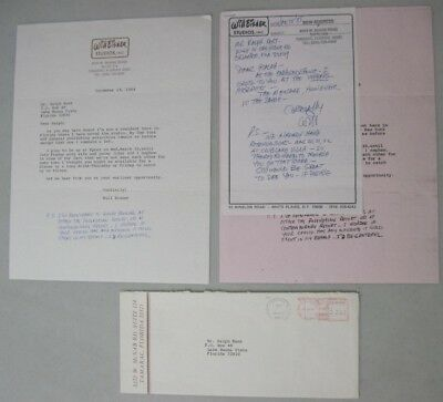 Will Eisner Signed Correspondence Letter December 1984 January 1985 The Spirit