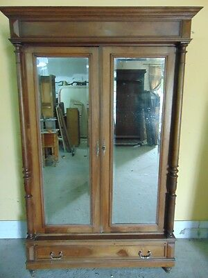 French Henri II style Carved Armoire C1900 No reserve