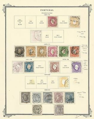 Portugal Collection 1867-1870 on Scott Specialty Page, Early Classics