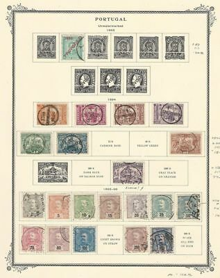 Portugal Collection 1893-1896 on Scott Specialty Page, Early Classics