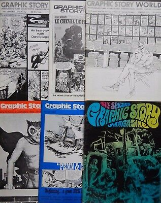 Lot of 15 60s-70s Fanzines: Graphic Story World 2-9; Graphic Story Magazine 8-16