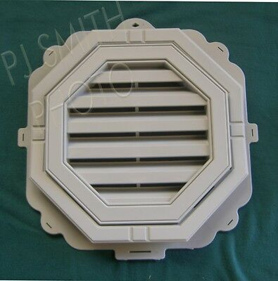 """New 18"""" Economy Octagon Charcoal / Flannel Slate  Gable Wall Vent"""
