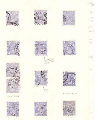 Australia1915-36 GV HEADS STUDY 500+- STAMPS-MINT+USED MANY VARIETIES-IN 2ALBUMS