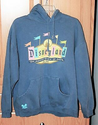 Disneyland Resort Hooded Sweatshirt Size XL Retro Design Happiest Place on Earth