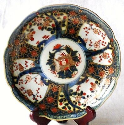 C19Th Chinese Imari Pattern Plate With Four Character Marks