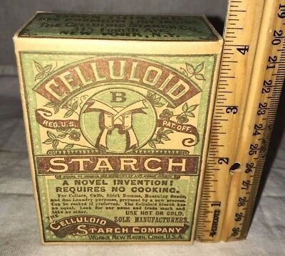 Antique Unopened Celluloid Starch Laundry Box New Haven Ct Vintage Clothing Soap