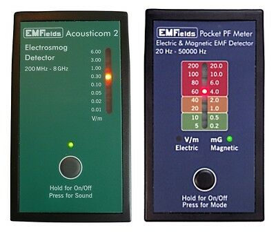 Acousticom 2 RF Microwave Meter + PF5 Electric and Magnetic Field Meter