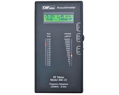 Acoustimeter AM10 RF Detector Microwave Meter + FREE 11-PAGE TRAINING DOCUMENT