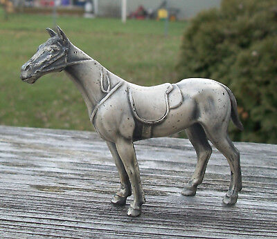 Vintage Smaller Pewter Horse Figure Figurine 3 Inch Tall