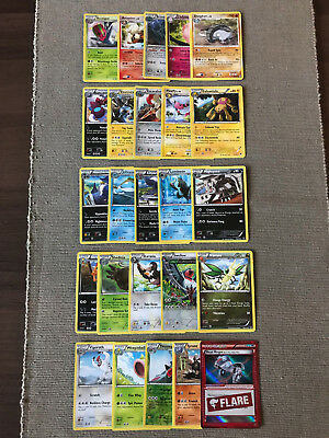 Brand New Pack of 25 Stage 1 Pokemon Cards Including Flare Foil Trainer 97/119