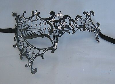 Black Filigree Metal Half Venetian Party Masquerade Mask * NEW *