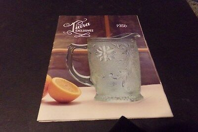 Vintage Tiara Exclusives Catalog 1986 Fostoria Empress Glass Party Platters Vase