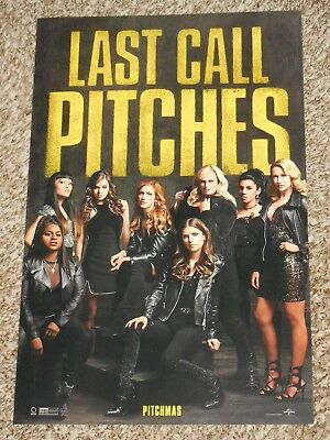 Pitch Perfect 3 11x17 Promo Movie POSTER Last Call Pitches