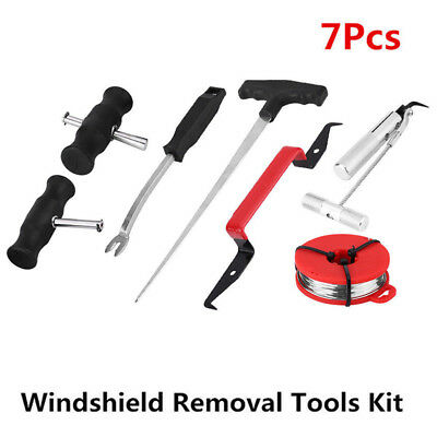 7pcs New Professional Windshield Removal Automotive Wind Glass Remover Tool Kit