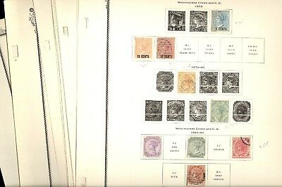 MAURITIUS, Excellent Assortment of Stamps hinged on remainder Scott Specialty pg