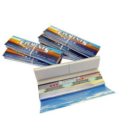 Combo Rolling papers + Tips Elements Unrefined Smoke Natural Hemp King size