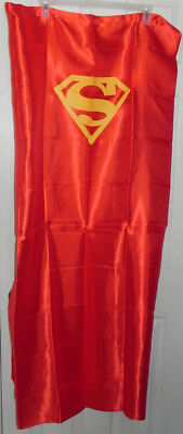 Superman Adult Satin Cape w/Mask Red Halloween Costume Party Dress-Up
