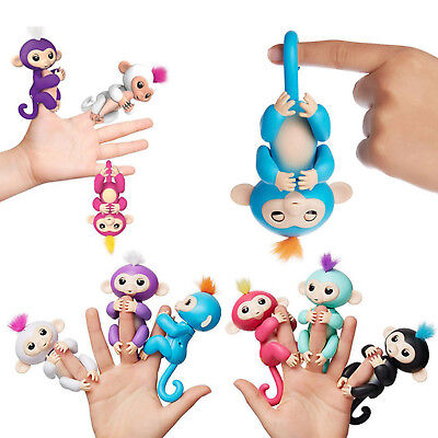GIFT Finger Cute Toy lings Baby Monkey Electronic Interactive Toy Robot Pet Kids