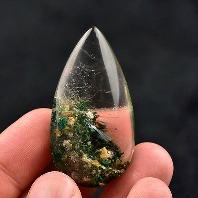1 Pc Natural Ghost Phantom Quartz Crystal Gems Specimen Healing Pendant