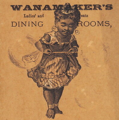 George W. Wanamaker Dining Rooms 1880's Bubble Victorian Advertising Trade Card