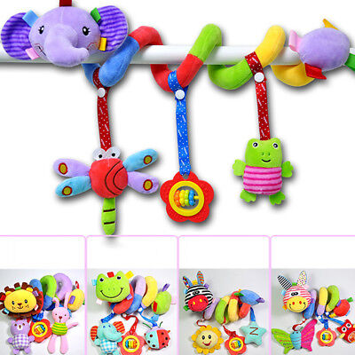 Baby Activity Toy Soft Spiral Cot Crib Car Seat/Stroller Infant Rattle Plush