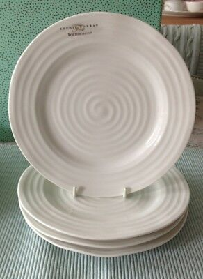 "Sophie Conran For Portmeirion 4 X 8"" Salad Dessert  Plates White New"