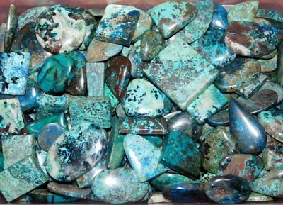 1000Cts Vibrant Azurite Cabochon Natural Gemstone Wholesale Lot- 11