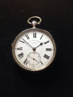 Antique Silver Fusee Pocket Watch By Powell & Jones Of Shrewsbury 1884 Serviced