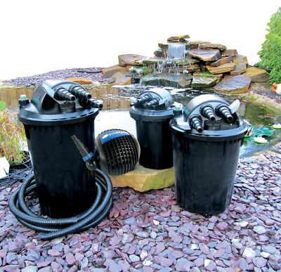 Pond Pump & Filter Sets. Every Size from 2000 Litres to 30000 Litres.