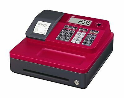 Casio Cash Register for Small/Medium Sized Retail Businesses (Red)