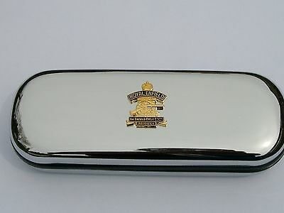 ROYAL ENFIELD  badge motorbike car brand new chrome glasses case great gift