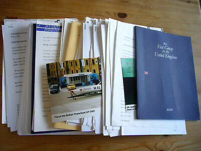 Fiat: very large archive job lot of press releases & photos, 1990s-2000s, great